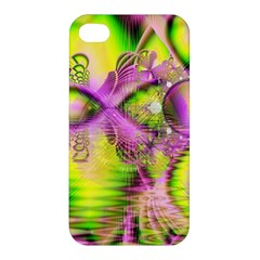 Raspberry Lime Mystical Magical Lake, Abstract  Apple Iphone 4/4s Premium Hardshell Case