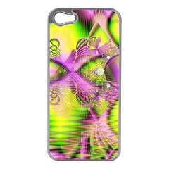 Raspberry Lime Mystical Magical Lake, Abstract  Apple iPhone 5 Case (Silver)