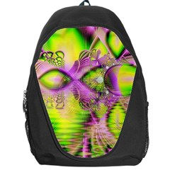 Raspberry Lime Mystical Magical Lake, Abstract  Backpack Bag