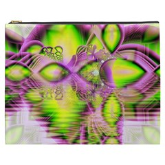 Raspberry Lime Mystical Magical Lake, Abstract  Cosmetic Bag (XXXL)