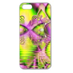 Raspberry Lime Mystical Magical Lake, Abstract  Apple Seamless iPhone 5 Case (Clear)