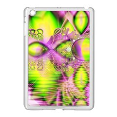 Raspberry Lime Mystical Magical Lake, Abstract  Apple Ipad Mini Case (white)