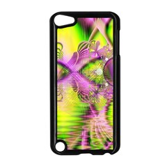 Raspberry Lime Mystical Magical Lake, Abstract  Apple iPod Touch 5 Case (Black)