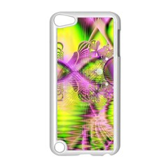 Raspberry Lime Mystical Magical Lake, Abstract  Apple Ipod Touch 5 Case (white)