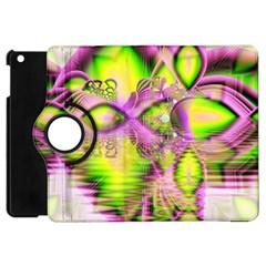 Raspberry Lime Mystical Magical Lake, Abstract  Apple iPad Mini Flip 360 Case