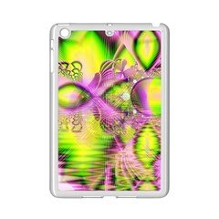 Raspberry Lime Mystical Magical Lake, Abstract  Apple Ipad Mini 2 Case (white)