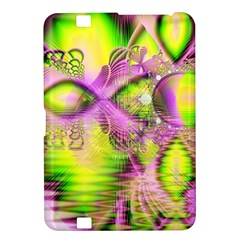 Raspberry Lime Mystical Magical Lake, Abstract  Kindle Fire Hd 8 9  Hardshell Case