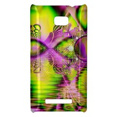 Raspberry Lime Mystical Magical Lake, Abstract  HTC 8X Hardshell Case