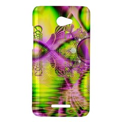 Raspberry Lime Mystical Magical Lake, Abstract  HTC Butterfly (X920e) Hardshell Case