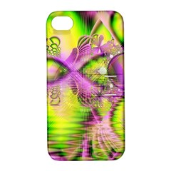 Raspberry Lime Mystical Magical Lake, Abstract  Apple iPhone 4/4S Hardshell Case with Stand