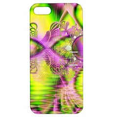 Raspberry Lime Mystical Magical Lake, Abstract  Apple Iphone 5 Hardshell Case With Stand