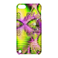 Raspberry Lime Mystical Magical Lake, Abstract  Apple iPod Touch 5 Hardshell Case with Stand