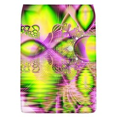 Raspberry Lime Mystical Magical Lake, Abstract  Removable Flap Cover (Large)