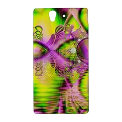 Raspberry Lime Mystical Magical Lake, Abstract  Sony Xperia Z (L36H) Hardshell Case