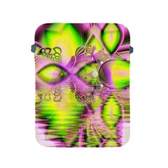Raspberry Lime Mystical Magical Lake, Abstract  Apple Ipad Protective Sleeve
