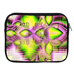 Raspberry Lime Mystical Magical Lake, Abstract  Apple Ipad Zippered Sleeve