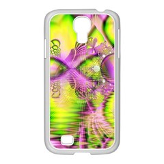 Raspberry Lime Mystical Magical Lake, Abstract  Samsung GALAXY S4 I9500/ I9505 Case (White)