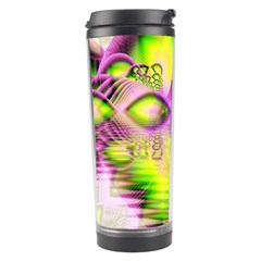 Raspberry Lime Mystical Magical Lake, Abstract  Travel Tumbler