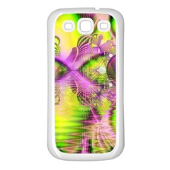 Raspberry Lime Mystical Magical Lake, Abstract  Samsung Galaxy S3 Back Case (White)