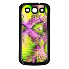 Raspberry Lime Mystical Magical Lake, Abstract  Samsung Galaxy S3 Back Case (black)