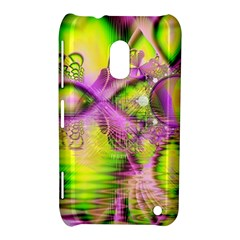 Raspberry Lime Mystical Magical Lake, Abstract  Nokia Lumia 620 Hardshell Case