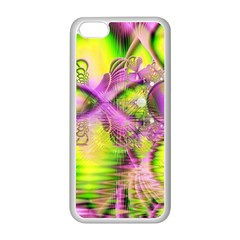 Raspberry Lime Mystical Magical Lake, Abstract  Apple Iphone 5c Seamless Case (white)