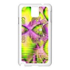 Raspberry Lime Mystical Magical Lake, Abstract  Samsung Galaxy Note 3 N9005 Case (White)