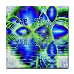 Irish Dream Under Abstract Cobalt Blue Skies Ceramic Tile