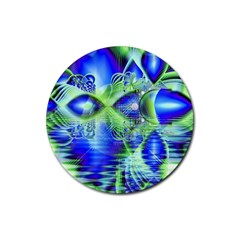 Irish Dream Under Abstract Cobalt Blue Skies Drink Coaster (Round)