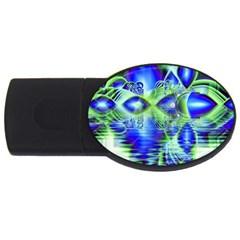 Irish Dream Under Abstract Cobalt Blue Skies 2GB USB Flash Drive (Oval)