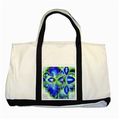 Irish Dream Under Abstract Cobalt Blue Skies Two Toned Tote Bag