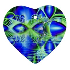 Irish Dream Under Abstract Cobalt Blue Skies Heart Ornament (Two Sides)