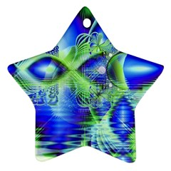 Irish Dream Under Abstract Cobalt Blue Skies Star Ornament (Two Sides)