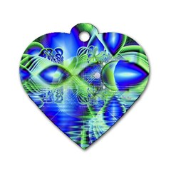 Irish Dream Under Abstract Cobalt Blue Skies Dog Tag Heart (Two Sided)