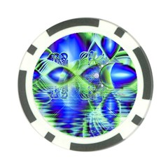 Irish Dream Under Abstract Cobalt Blue Skies Poker Chip