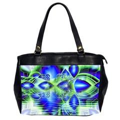 Irish Dream Under Abstract Cobalt Blue Skies Oversize Office Handbag (two Sides)