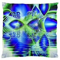 Irish Dream Under Abstract Cobalt Blue Skies Large Cushion Case (Two Sided)