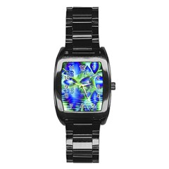 Irish Dream Under Abstract Cobalt Blue Skies Stainless Steel Barrel Watch