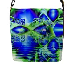 Irish Dream Under Abstract Cobalt Blue Skies Flap Closure Messenger Bag (Large)