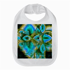 Crystal Gold Peacock, Abstract Mystical Lake Bib