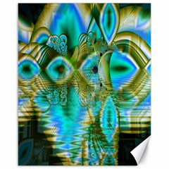 Crystal Gold Peacock, Abstract Mystical Lake Canvas 16  x 20  (Unframed)