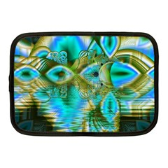 Crystal Gold Peacock, Abstract Mystical Lake Netbook Sleeve (medium)