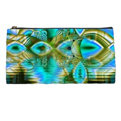 Crystal Gold Peacock, Abstract Mystical Lake Pencil Case
