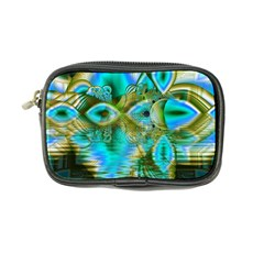 Crystal Gold Peacock, Abstract Mystical Lake Coin Purse