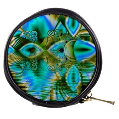 Crystal Gold Peacock, Abstract Mystical Lake Mini Makeup Case