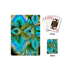 Crystal Gold Peacock, Abstract Mystical Lake Playing Cards (mini)