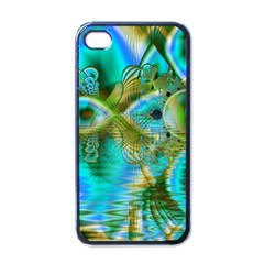 Crystal Gold Peacock, Abstract Mystical Lake Apple Iphone 4 Case (black)