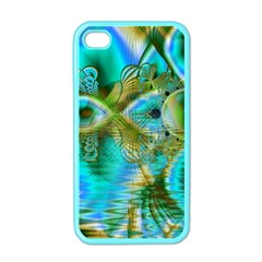 Crystal Gold Peacock, Abstract Mystical Lake Apple iPhone 4 Case (Color)