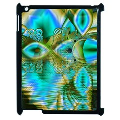 Crystal Gold Peacock, Abstract Mystical Lake Apple Ipad 2 Case (black)
