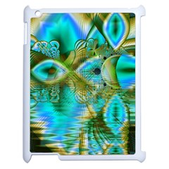 Crystal Gold Peacock, Abstract Mystical Lake Apple Ipad 2 Case (white)